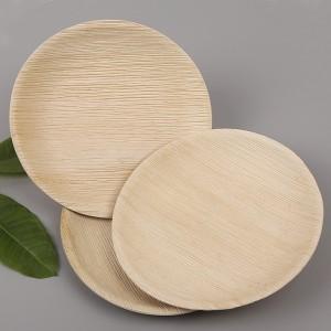 Biodegradable palm leaf round plates